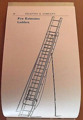 1901 LADDER TRADE CATALOG Fellows Co BOSTON FIRE FIGHTERS LADDERS Masons ROOFERS
