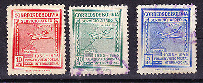 Bolivia - 1945 Air Panagra Issues - Used
