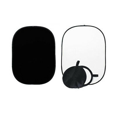 2x1.5m Black White Backdrop Reversible Studio Collapsible Muslin Background B9V1