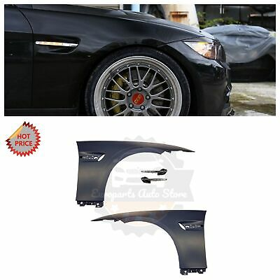 Bmw E92 M3 Style Oem Plastic Material Fenders W/ Led Side Markers For E92 E93 2D