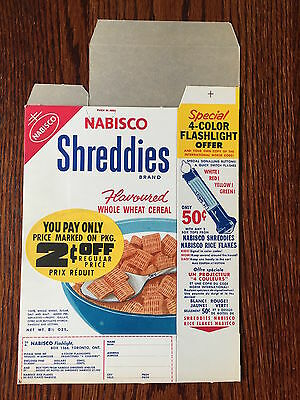 EARLY 1950'S ORIGINAL Shreddies Cereal Box Never Used RARE Flat condition