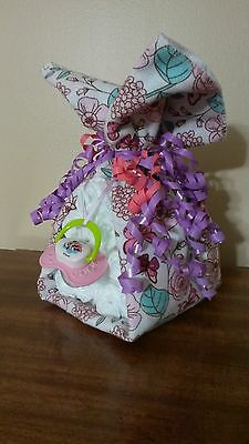 Diaper Cake Stork Bundle Baby Shower Gift for Girl