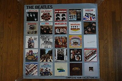"The Beatles Complete Your Collection Poster 36"" x 36"" Rarities 1978"