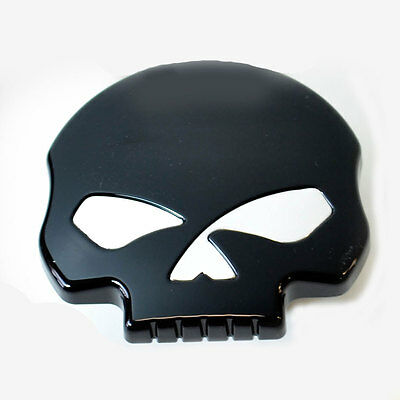 Black Vented Skull Gas Cap for Harley Sportster Dyna Softail Fuel Cap