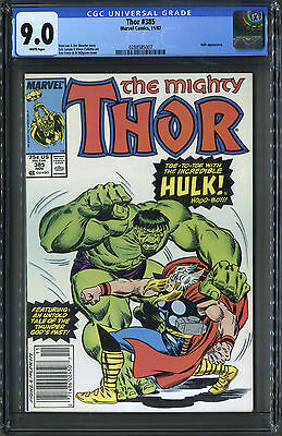 The Mighty Thor #385 (Marvel, 87) CGC 9.0 White!!