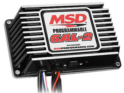 MSD Digital Programmable 6AL-2 Ignition Control w/RevLimit BLACK - MSD65303