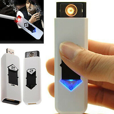 HA USB Electric Battery Rechargeable Flameless Collectible Lighter Cigarettes