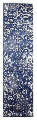 New Hallway Runner Rug Traditional Extra Long FREE DELIVERY Assorted Size Navy