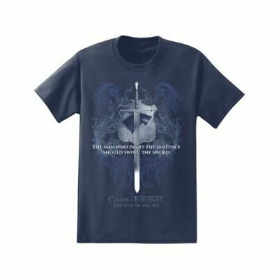 Game Of Thrones ALMIGHTY STARK ICE SWORD - SWORD QUOTE T-Shirt NWT S-3XL