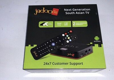 NEW JADOO 5S 4K ULTRA HD W***(FREE --AIR MOUSE ) WITH VOICE ( Jadoo 4,BTV shava