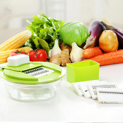 Multifunctional Fruit Vegetable Cutter Slicer Kitchen Chopper With 5 Blades Tool