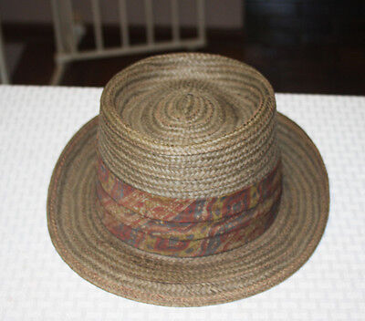 1950s Vintage Stetson Mens Straw Hat Size 7 1/8