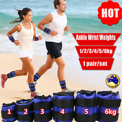 1/3/5kg Adjustable Ankle Wrist Weights Strap GYM Equipment Yoga Fitness Training