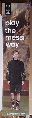 Lionel Messi Barcelona Adidas Play The Messi Way Used 12X48 Display Sign