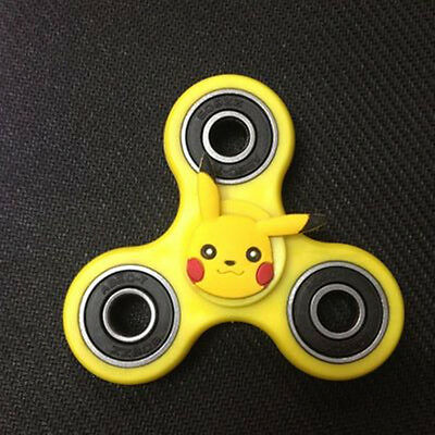 Pikachu Hand Finger Tri-Spinner Fidget EDC Desk Toy Focus ADHD Relief For Kids