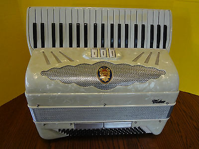 Vintage 1950's VIDEO ACCORDION 120 BASS w Original Case MADE IN ITALY ~FAST S/H~