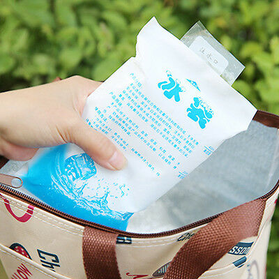 4Pcs Insulated Reusable Ice Pack Gel Cooler Ice Bag For Lunch Box Food Cans