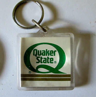Vintage Advertising Quaker State Oil  Keyring/keychain/fob