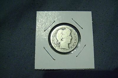 United States 90% silver Barber Quarter, dated 1912, circulated condition