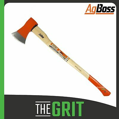 AgBoss 2kg Hickory Handle Polished Axe Camping Firewood Log Wood Splitter