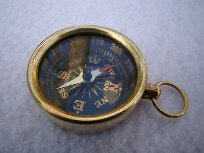 Brass Pocket Compass ~ Nautical Maritime ~ Camping Hiking ~ Magnetic