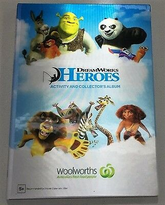 NEW! - Woolworths Dreamworks Heroes Full Collector's Album & Full Set Of Cards