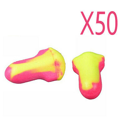 100Pcs Durable Foam Laser Lite Ear Plugs Useful , 50 Pairs Anti-Noise EarPlug YX