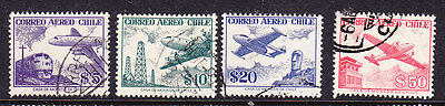 Chile  -1956  Airmails  No Watermark Issues