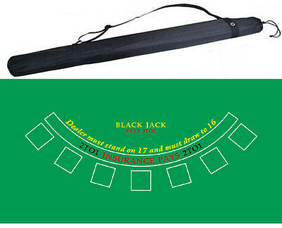 180*90cm NEW Rubber Blackjack Poker Board Felt layout Table cloth with Bag