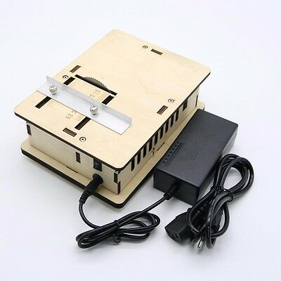 Wooden Mini DIY Table Saw Woodworking Chainsaw Cutting Machine with Power Supply