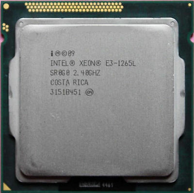 Intel Xeon E3-1265L 45W Processor 2.4GHz LGA 1155 SR0G0 4-Core 8-Thread 8M Cach