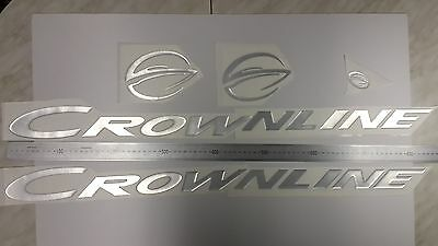"CROWNLINE boat Emblem 33"" Epoxy Stickers Resistant to mechanical shocks"