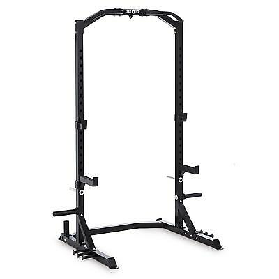 Klarfit Power Half Rack Steel Black Height Adjustable Excercise Home Gym Trainer