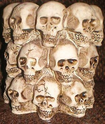 Latex Craft Mould To Make Small Skull Candle Holder Art & Crafts Hobby