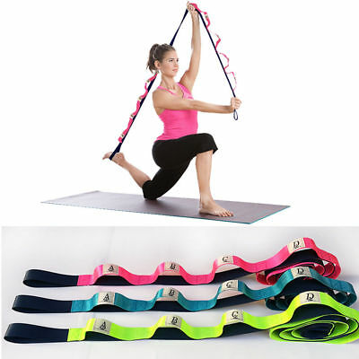 "Restore Multi-Grip 73"" Yoga Stretch Strap Training Belt with 10 Flexible Loops"