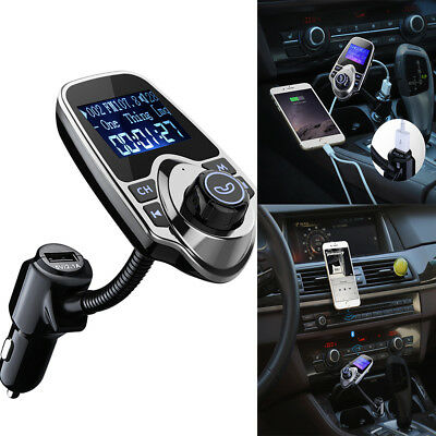 VicTsing Wireless Bluetooth FM Transmitter Car Kit Handsfree LCD MP3 Player UK