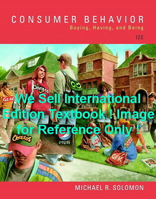 NEW Consumer Behavior Buying Having and Being 12E Michael R Solomon 12th Edition