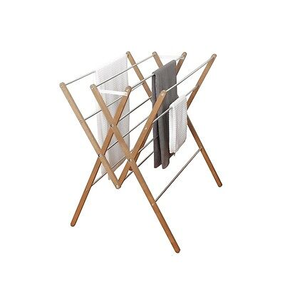 Wooden Clothes Airer with Frame 12 Rails