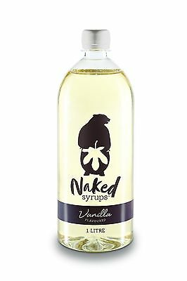 Naked Syrups Vanilla Flavouring, Coffee Syrup -1 litre
