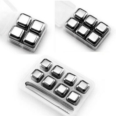 Home Bar Restaurant Stainless Steel Ice Cubes Wine/Beer Cooler Ice Cube Stones