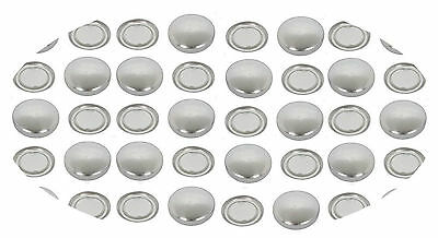 50 Buttons 19mm Self Cover FLAT Back Cabochon Button DIY win tool set