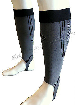 NEW Calf Leg Compression Sleeve With Stirrup Socks Support Brace Guard Sports
