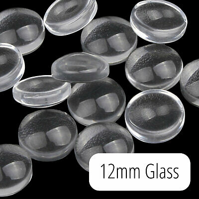 Round Glass Magnifying Cabochons 10 pairs 12mm  3mm Deep  ***Best Seller*** 20pc
