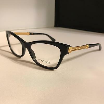 Brand New Black VERSACE Eyeglasses frame/MOD 3214 GB1