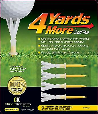 4 Yards More - Yellow standard Golf Tees - Improve your distance