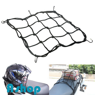 6 Hooks Elastic Bungee Cord Motorcycle Motorbike Bike Quad Cargo Luggage Net 2PC