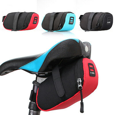B-Soul Outdoor Bike Bicycle Cycling Saddle Bag Tail Seat Rear Storage Pouch
