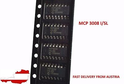 1x MCP3008 8 Channel 10-Bit Analog/Digital Converters with SPI Serial Interface