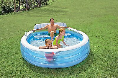 Family Relax Lounge Swimming Pool Inflatable Padding Bench Outdoor Kids Pools