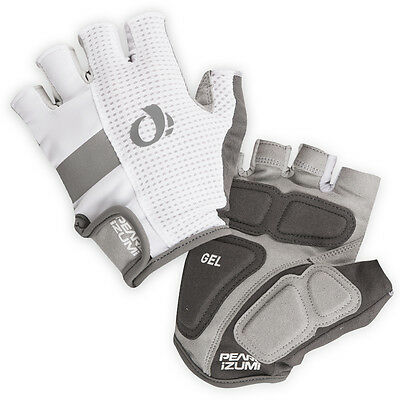 NEW Pearl Izumi Men's Elite Gel Gloves Half Finger Bicycle Cycling White X-Large
